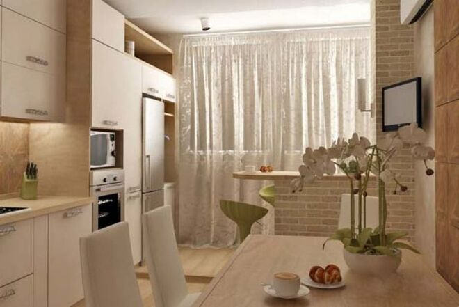 фото кухни с балконом